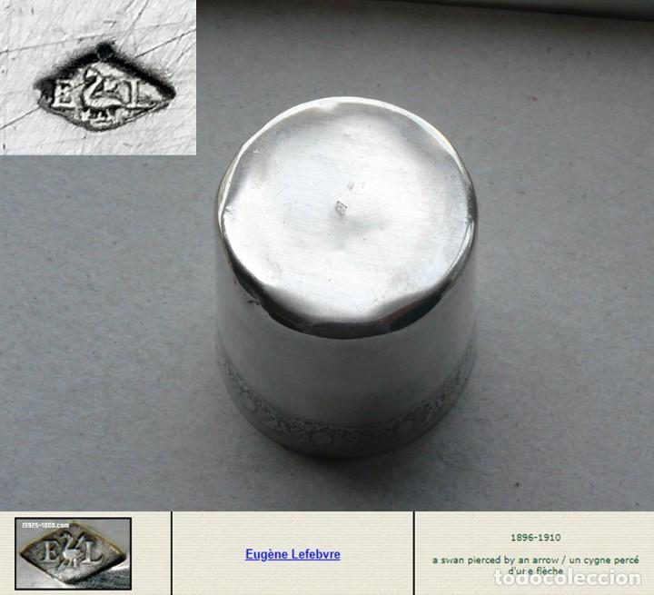 Antigüedades: Antiguo vaso de plata . Francia siglo XIX - Foto 5 - 289740263