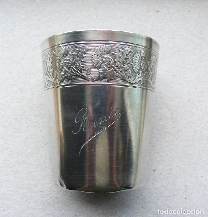 Antigüedades: Antiguo vaso de plata . Francia siglo XIX - Foto 6 - 289740263