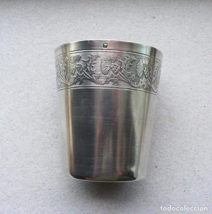 Antigüedades: Antiguo vaso de plata . Francia siglo XIX - Foto 7 - 289740263