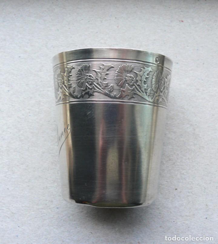 Antigüedades: Antiguo vaso de plata . Francia siglo XIX - Foto 8 - 289740263