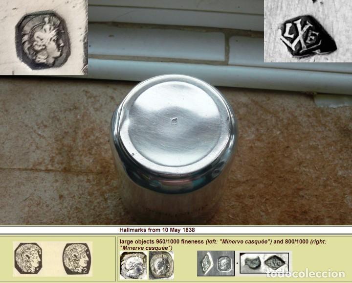 Antigüedades: Antiguo vaso de plata . Francia siglo XIX - Foto 5 - 289742828