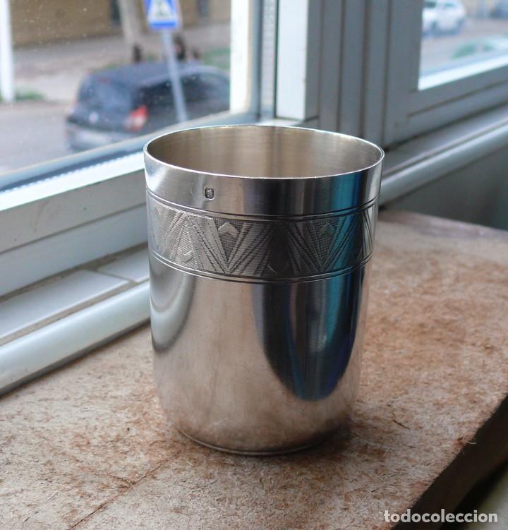 Antigüedades: Antiguo vaso de plata . Francia siglo XIX - Foto 10 - 289742828