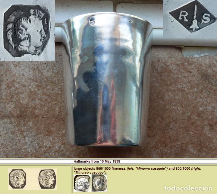 Antigüedades: Antiguo vaso de plata . Francia siglo XIX - Foto 5 - 289743688