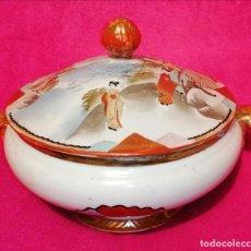 Antigüedades: SOPERA DE LOZA JAPONESA. Lote 289747173