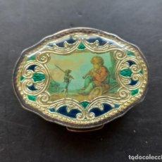 Antigüedades: CAJITA PASTILLERO PLATA. Lote 289750988