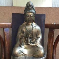 Antigüedades: BUDDHA BRONZE GUANYIN. Lote 289755908