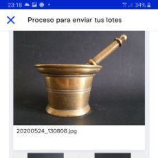 Antigüedades: ALMIDREZ BRONCE SIGLOXIX. Lote 289763408