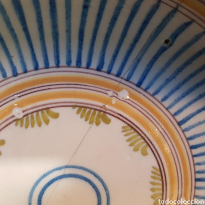 Antigüedades: Plato hondo de cerámica de Manises SXVIII- SXIX - Foto 2 - 289810453