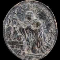 Antiguidades: MEDALLA RELIGIOSA, SIGLOS XVI-XVII - 30X27 MM.. Lote 289828183
