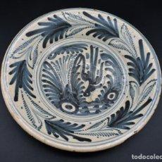 Antigüedades: PLATO DE LOZA TALAVERA ✔️ HELECHOS SIGLO XVIII ✔️ CERÁMICA ANTIGUA ORIGINAL ESPAÑOLA GOLONDRINA. Lote 289852213