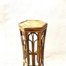 Antigüedades: ANTIGUO PEDESTAL DE BAMBÚ. Lote 289910198