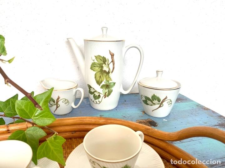 Antigüedades: Antiguo juego de café y bandeja de caña - Foto 7 - 289998758