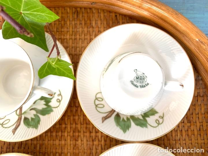 Antigüedades: Antiguo juego de café y bandeja de caña - Foto 10 - 289998758