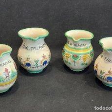 Antigüedades: 4 JARRITAS PARA EL VINO / RDO. DE TALAVERA / PERFECTAS / 2 CON MARCA CASAS Y 2 SIN MARCA.. Lote 290022863