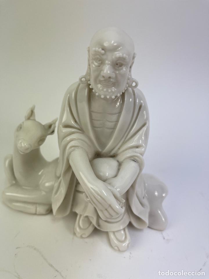 FIGURA ORIENTAL DE PORCELANA. FINALES S.XIX- PRINCIPIOS S.XX. (Antigüedades - Porcelanas y Cerámicas - China)