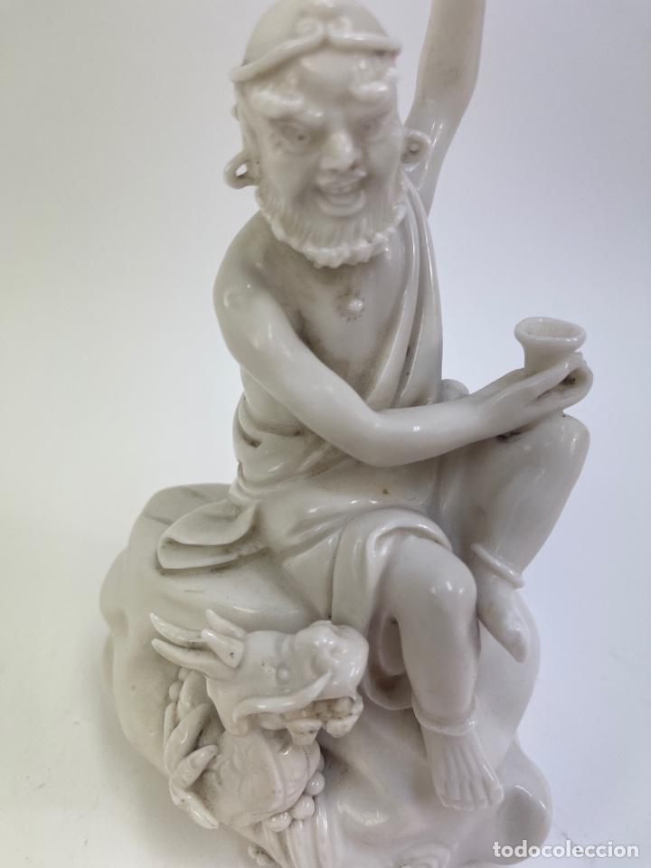 Antigüedades: FIGURA ORIENTAL DE PORCELANA. FINALES S.XIX- PRINCIPIOS S.XX. - Foto 2 - 290056748