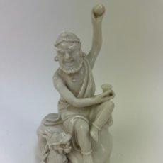 Antigüedades: FIGURA ORIENTAL DE PORCELANA. FINALES S.XIX- PRINCIPIOS S.XX.. Lote 290056748