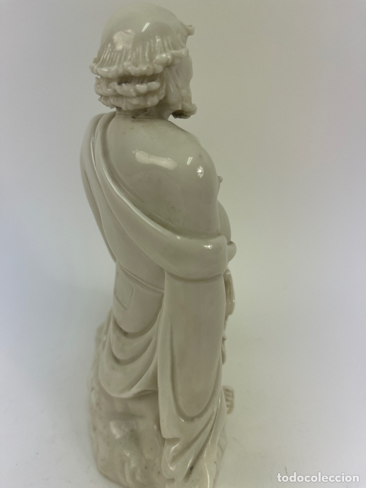 Antigüedades: FIGURA ORIENTAL DE PORCELANA. FINALES S.XIX- PRINCIPIOS S.XX. - Foto 5 - 290056968