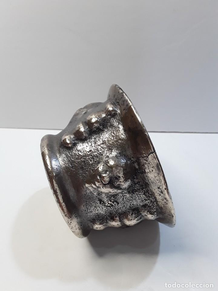 Antigüedades: Almirez de bronce, 5 caras y 5 columnas. Siglo XVIII - Foto 6 - 290059493