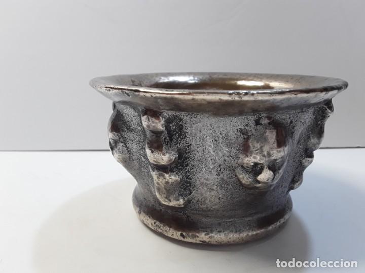 Antigüedades: Almirez de bronce, 5 caras y 5 columnas. Siglo XVIII - Foto 14 - 290059493