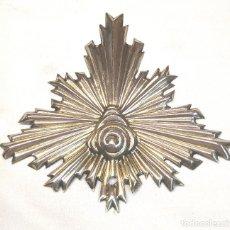 Antigüedades: CORONA RESPLANDOR S XIX PLATA. MED. 12 X 12 CM. Lote 290063483
