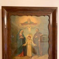 Antigüedades: MARCO ISABELINO CURVADO DE CAOBA. Lote 290313223