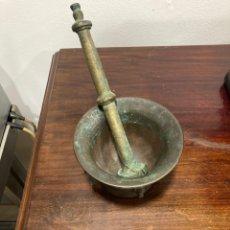 Antigüedades: PRECIOSO MORTERO ANTIGUO SIGLO XVIII. Lote 290367713