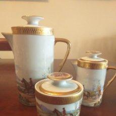 Antigüedades: JUEGO DE CAFE DE LIMOGES. Lote 290443368