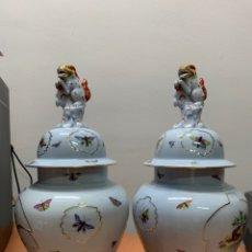Antiquités: JARRONES HÚNGAROS PINTADOS A MANO.. Lote 290523698