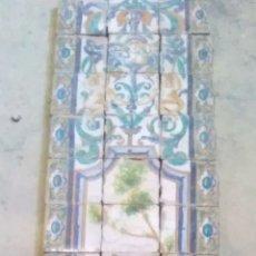 Antigüedades: MURAL CERÁMICO DE AZULEJOS CON MOTIVO DE TAUROMAQUIA. Lote 290650833