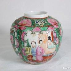 Antigüedades: PRECIOSO JARRÓN ANTIGUO EN PORCELANA MACAO CHINO ESTILO CLOISSONE - PIEZA ORIGINAL. Lote 290716123