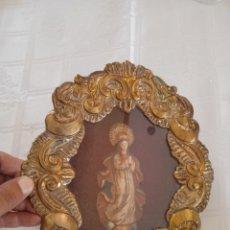 Antigüedades: ANTIGUO RELICARIO DE METAL. Lote 290926958