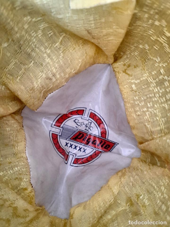 Antigüedades: Gran sombrero mejicano charro mexico Pigalle XXXXX terciopelo granate 58 cm - Foto 8 - 291172193