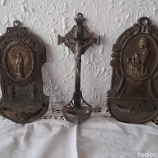 Antigüedades: 3 BENDITERAS ANTIGUAS. VER FOTOGRAFÍAS Y DESCRIPCIÓN.. Lote 291497128