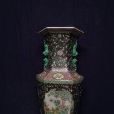 Antigüedades: GRAN JARRON CHINO EN PORCELANA. Lote 291854588