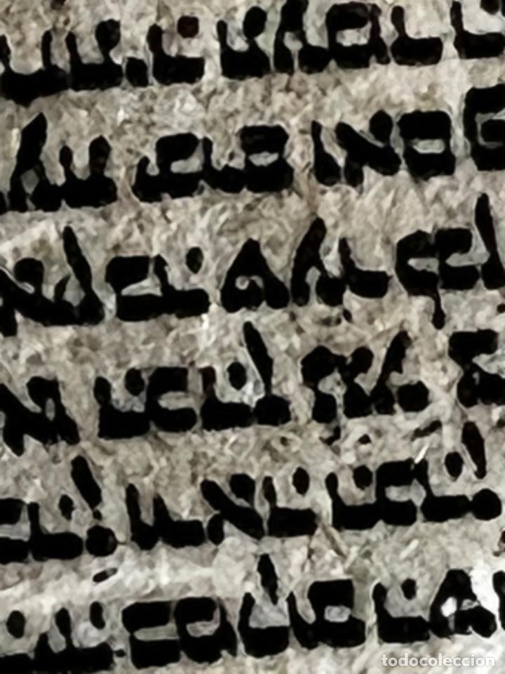 Antigüedades: ÚTILES CENTRO EUROPEOS JUDIOS - TORÁ ESCRITA A MANO EN MINIATURA - AÑOS 1900 - Foto 14 - 270684748