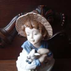 Antigüedades: PRECIOSA ESCULTURA DE PORCELANA MARCO GINER. IMPECABLE. Lote 292151883