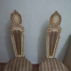 Antigüedades: PAR DE SILLAS ANTIGUAS. Lote 292540468