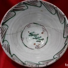 Antigüedades: S. XIX TERUEL GRAN PLATO HONDO.. Lote 292617093