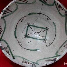 Antigüedades: S XIX TERUEL GRAN PLATO HONDO.. Lote 292618528