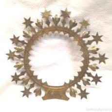 Antigüedades: CORONA PARA IMAGEN AÑOS 40. MED. 17 CM DIAMETRO. Lote 292953983
