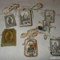 Antigüedades: LOTE DE 7 ESCAPULARIOS. Lote 293315233