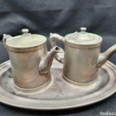 Antigüedades: ANTIGUOS SERVIDORES DE LECHE, CAFE O TÉ DE HOTEL. Lote 293426933