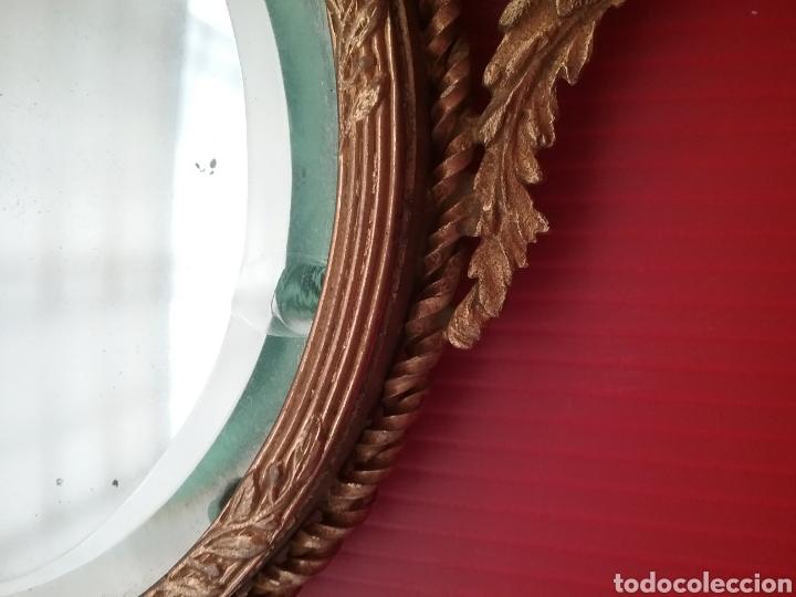 Antigüedades: Espejo de mano con esmalte y en bronce - Foto 5 - 293574633