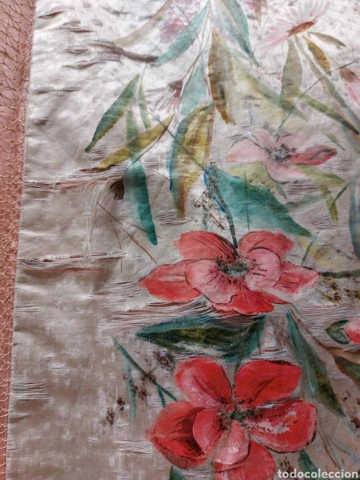 Antigüedades: Antigua colcha seda y encaje - Foto 9 - 293577878