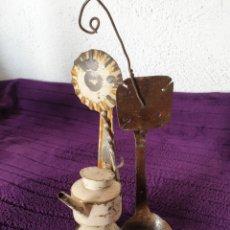 Antigüedades: ANTIGUOS QUIENES O LAMPARAS ACEITE. Lote 293592778