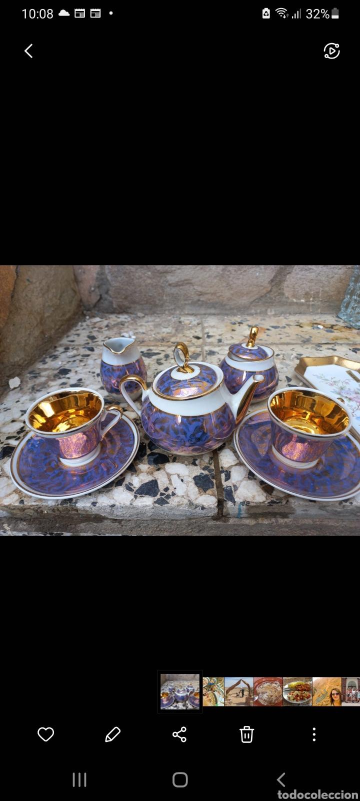 JUEGO DE CAFE DE PORCELANA TU Y YO (Antigüedades - Porcelanas y Cerámicas - Otras)