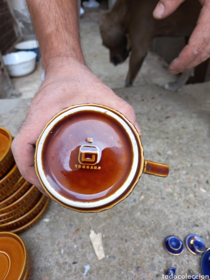 Antigüedades: Juego de tazas de cafe y chocolate de porcelana italiana - Foto 4 - 293595918