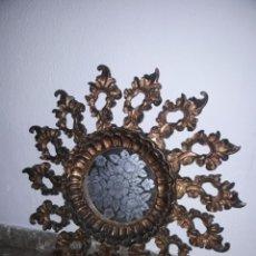 Oggetti Antichi: ESPEJO SOL DE MADERA. Lote 293626183