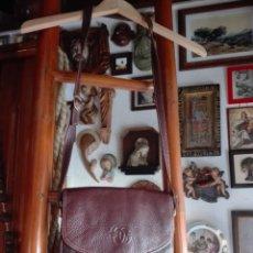 Antigüedades: BOLSO DE CUERO DÉCADA DE LOS 80 MÁS O MENOS. Lote 293742303